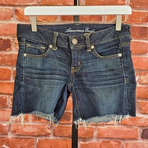 American Eagle raw hem stretch cut off jean shorts